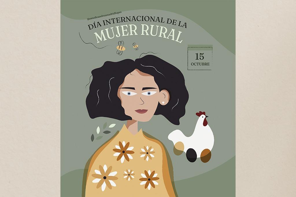 Ilustración Día Internacional de la Mujer Rural.